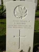 Pte F. Brown