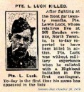 Luck Pte Lewis 26 Sept 1916 Vimy Memorial