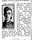 Marshall Pte John 25 Apr 1915 - Menin Gate