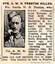 Preston Pte Austin Willie Northcott 26 Sept 1916 Vimy Memorial