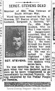 Stevens Sgt A 1 May 1915 Wimereux Communal Cemetery