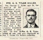 Tyler Pte George Edward 15 Aug 1917 Vimy Memorial