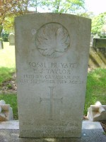 Preston New Hall Lane Cemetery - Pte Edward Joseph Taylor