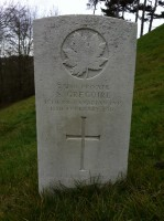 Shorncliffe Military Cemetery - Pte S. Gregoire