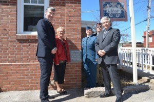 On 9 April 2017 the town of Annapolis Royal NS re-dedicated the town hall as part of their Vimy 100 commemoration. In May 1923 LtCol CE Bent Officiated at the laying of what was then the new Soldiers & sailors Memorial Hall, the cornerstone of which bears his name. The town invited Members of the Bent family and the 15th Battalion Memorial Project to attend the ceremony. Left to right: the Premier of NS, Bent's Grandaughter and great gran daughter, Lt Thomas Birchall (ret) 48th Highlanders of Canada and the Mayor of Annapolis Royal.